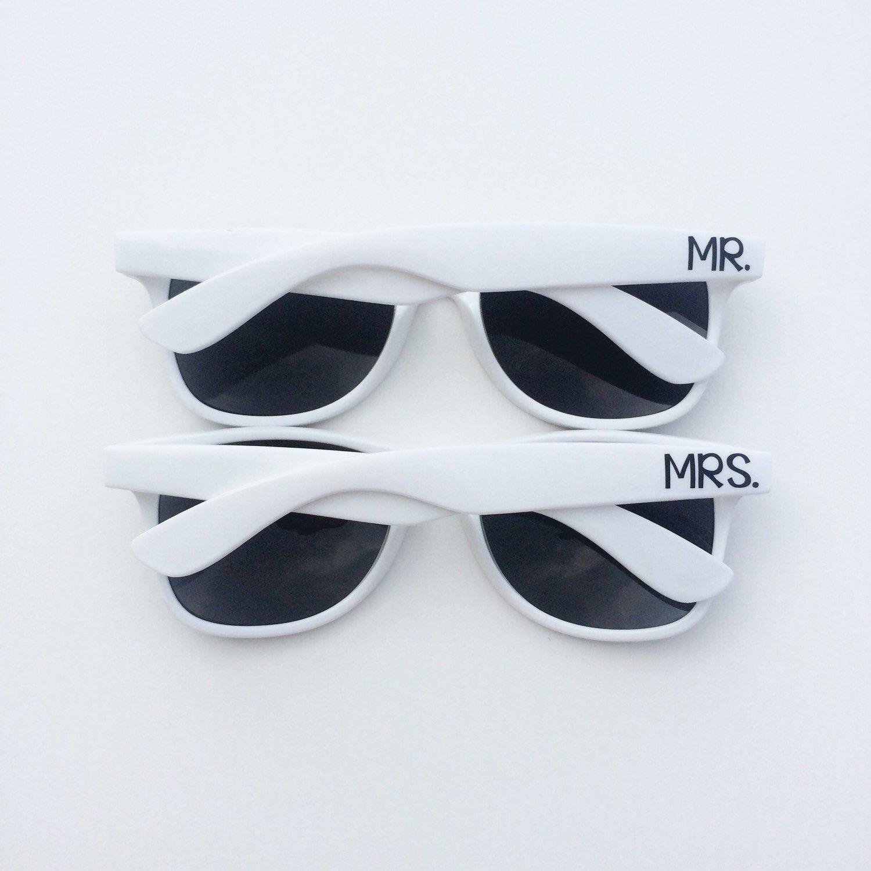 Mr and Mrs Sunglasses, Wedding Sunglasses, Honeymoon Gift, Custom Sunglasses, Bride and Groom Sunglasses, Personalized Sunglasses, Wayfarer by TheCraftyEngineerx on Etsy https://www.etsy.com/listing/246486925/mr-and-mrs-sunglasses-wedding-sunglasses
