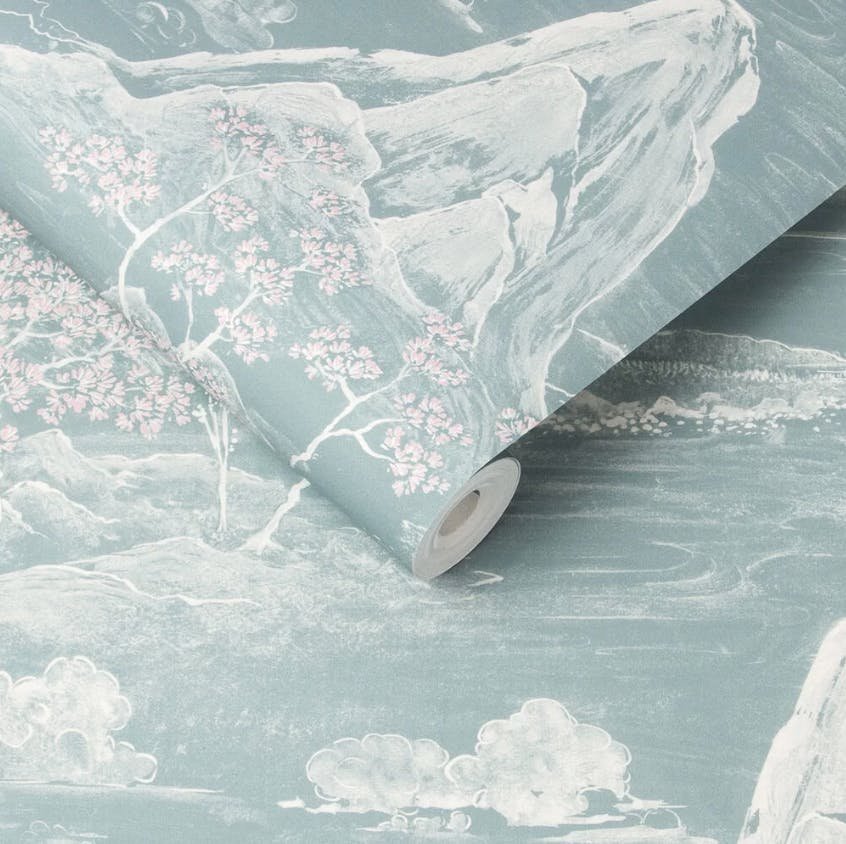 Wallpaper Is Back For 2020 And This Is The Trend You Need To Try Wallpaper Japanese Landscape Calming Colors