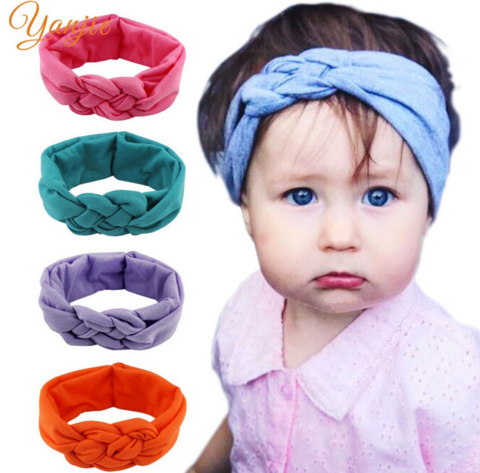 Kids Girls Toddler Baby Lace Turban Knot Cross Elastic Headband Hair Band