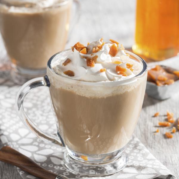 Caramelized Honey Crème Brulee Latte