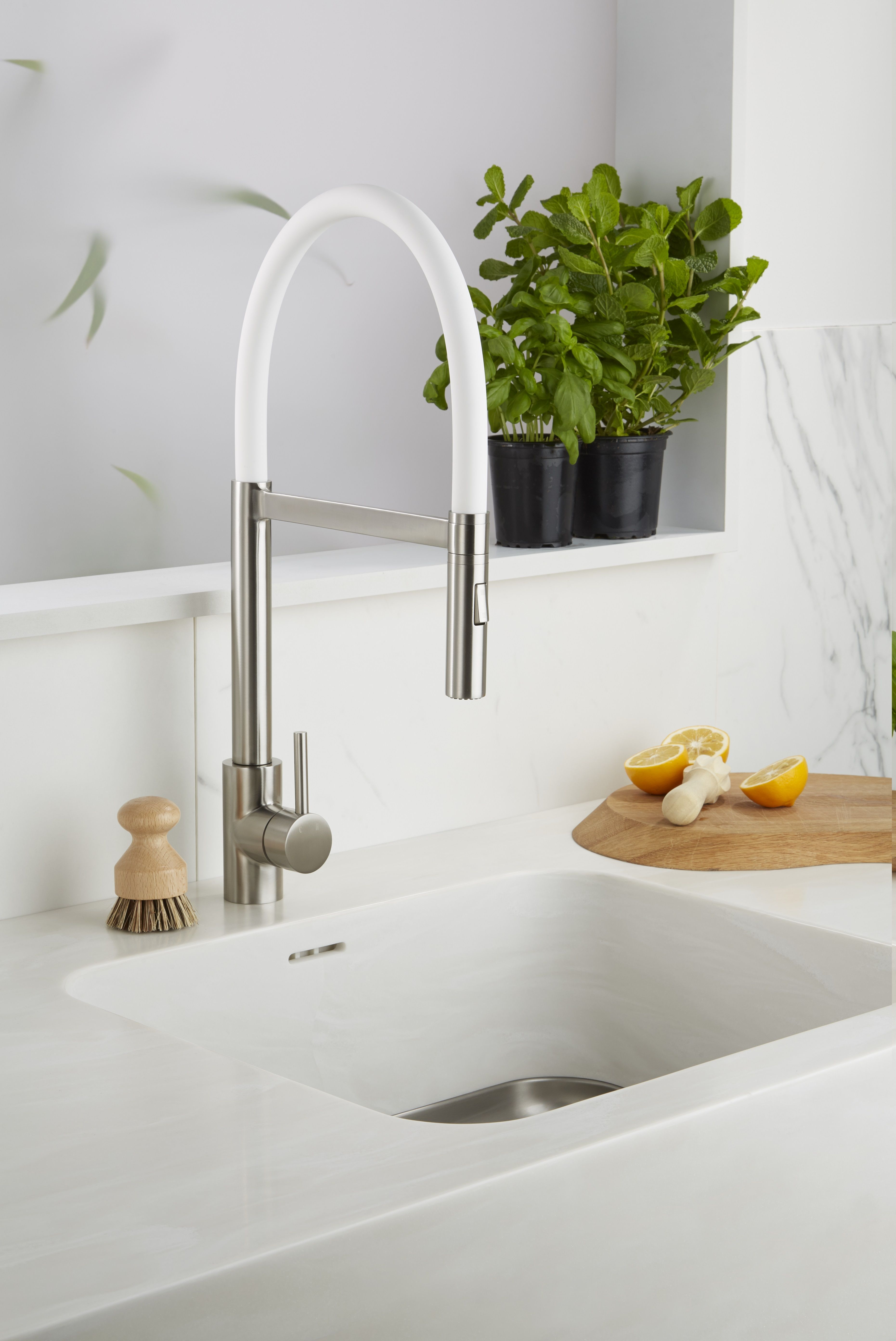 A modern minimalist look for your kitchen with a