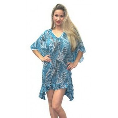 Soft fabric, attractive color, Fanstactic Blue printed Kaftan from LaLeeLa.com   got it at a bargain, free shipping going on at LaLeeLa.com   Gives you a slimming look, designed by one of the very famous fashion designers.