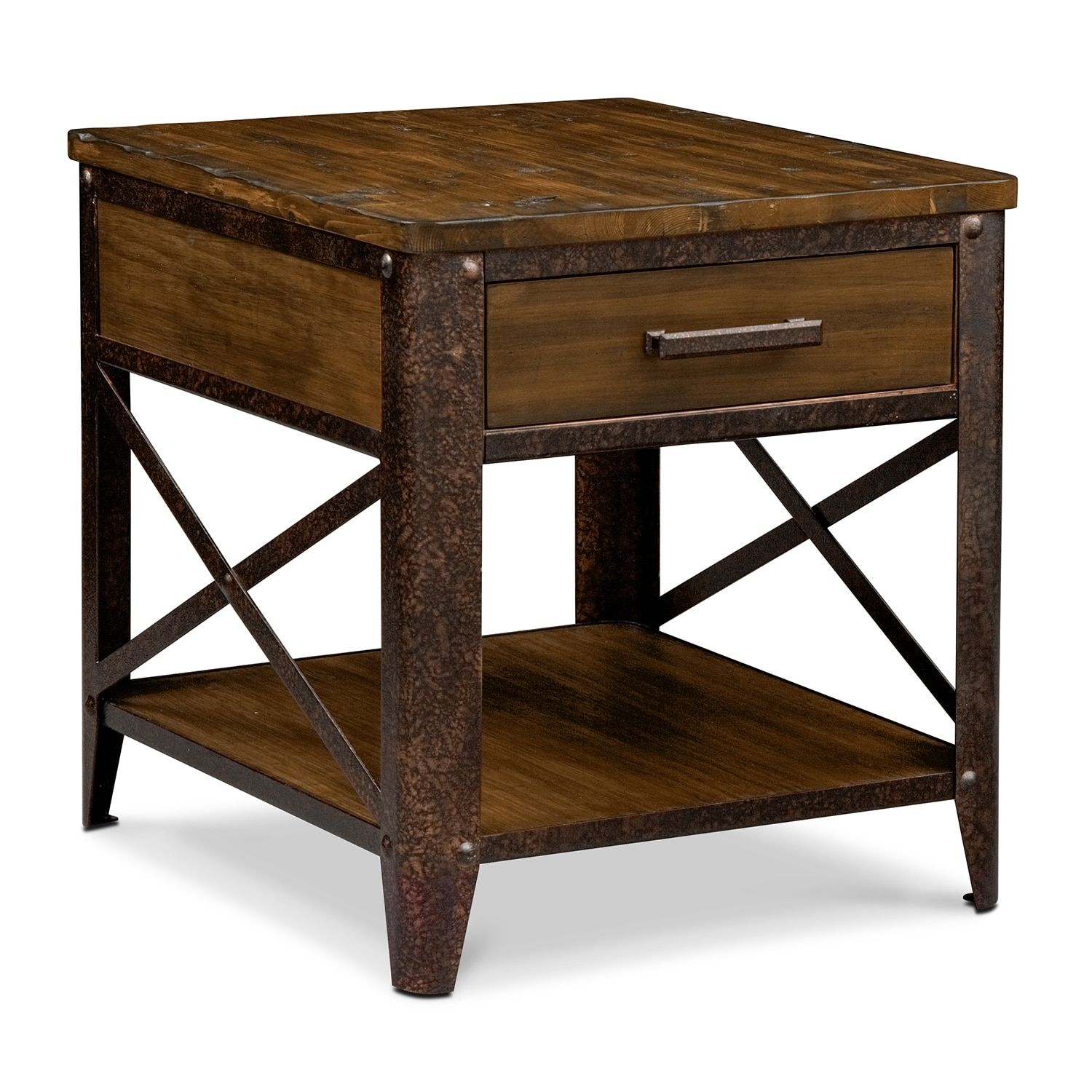 Accent and Occasional Furniture Shortline End Table Distressed