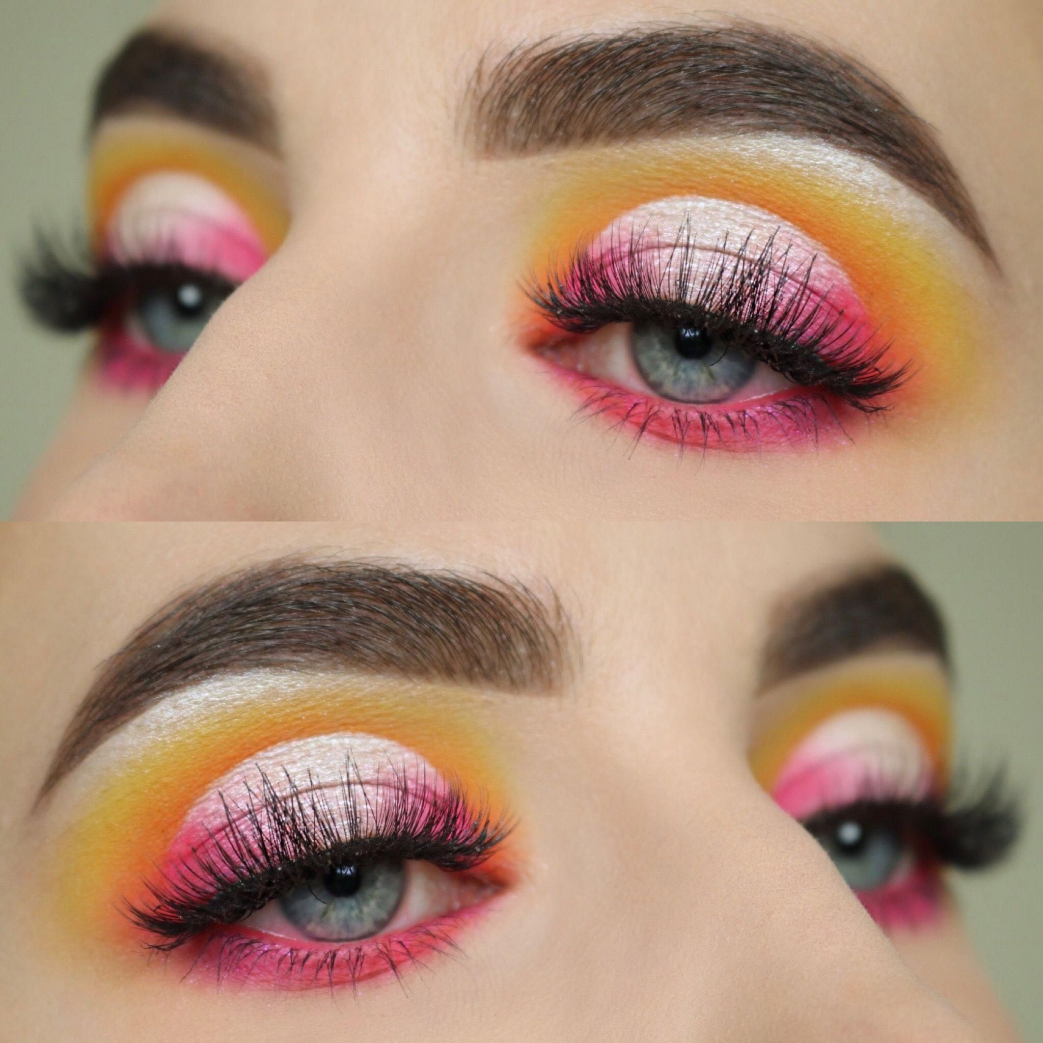 Laura Lee party animal palette, colorful makeup look