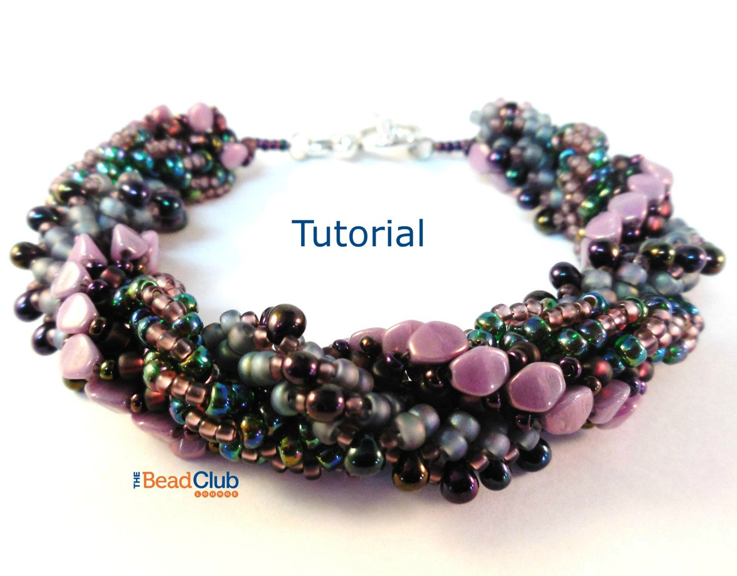 Pinch Beads, Seed Bead Bracelet Beading Pattern Instant Download ...
