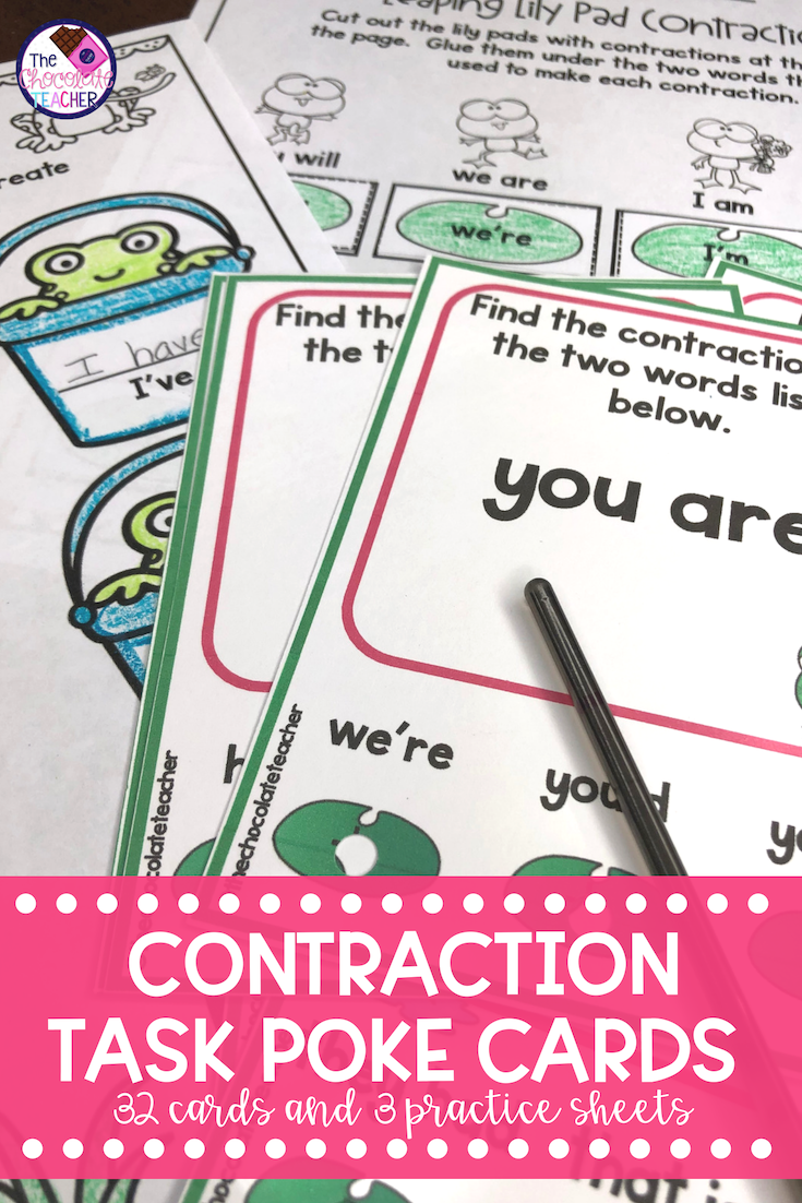Contraction Activity   Task cards [ 1102 x 735 Pixel ]