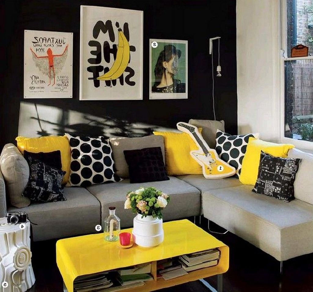 30 Outstanding Living Room Design For Summer Trenduhome Yellow Decor Living Room Grey And Yellow Living Room Summer Living Room Living room ideas yellow