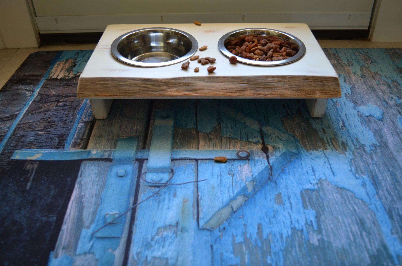 Dog dish stand farmhouse wood dog dish stand crafted