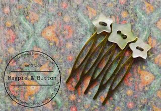 sweet button hair comb - nice blog too!