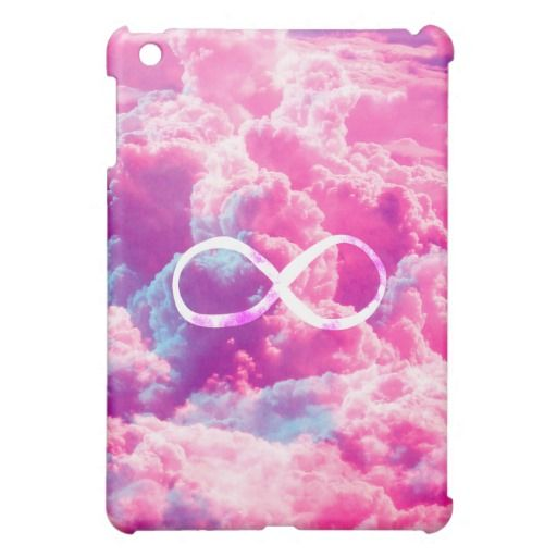 Girly Infinity Symbol Bright Pink Clouds Sky Cover For The ...