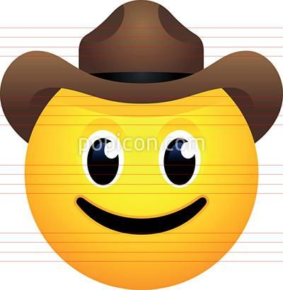 Cowboy Hat Face Emoji Happy Face Symbol Emoji Creative Drawing