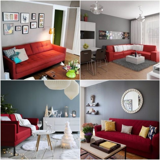 Quelle peinture quelle couleur autour d 39 un canap rouge salons living rooms and room for Peindre salon couleurs