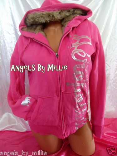 Aeropostale Women Girls M Dark Pink Silver Fur Lined ...