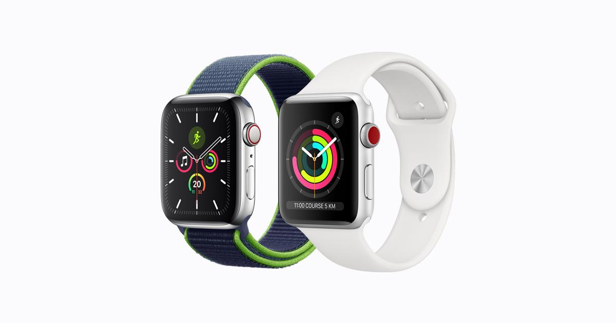 Comparez Les Caracteristiques Des Tout Derniers Modeles D Apple Watch Apple Watch Series 5 Et Apple Watch Ser In 2020 Apple Watch Apple Watch Models Top Smart Watches