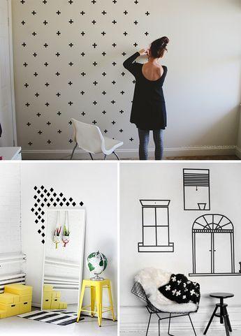 4 ideias para decorar a casa usando fita isolante for Casa con piscina quebrada alvarado