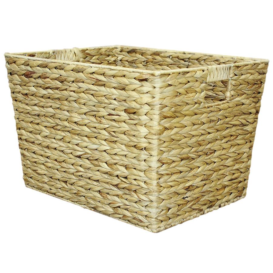 Lowes Laundry Baskets 1425In W X 12In H X 18In D Natural Water Hyacinth Basket $20