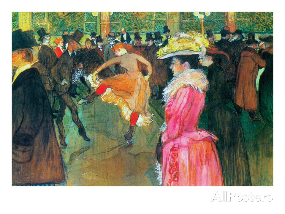 Ball In The Moulin Rouge Posters By Henri De Toulouse Lautrec