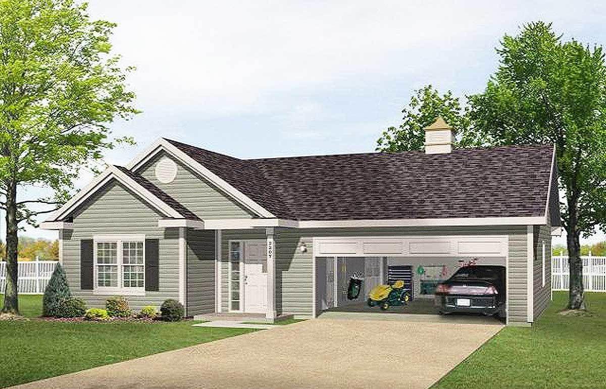 Plan 2225sl One Story Garage Apartment In 2021 Garage Apartments Cottage Plan Cottage House Plans