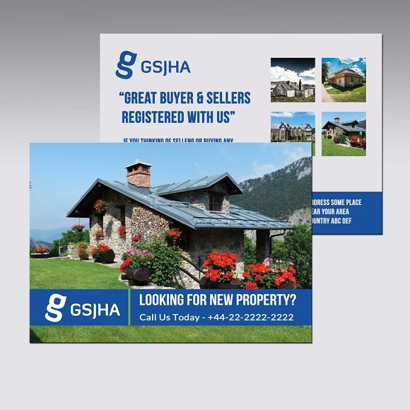 Real Estate A5 Horizontal Flyer Flyer Real Estate Brochures Double Sided Flyer