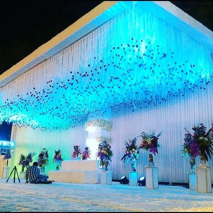 Amaraay The Event Diaries Royal Feather And Fur Decor We Call It A Col Wedding Stage Decorations Wedding Background Decoration Wedding Backdrop Decorations