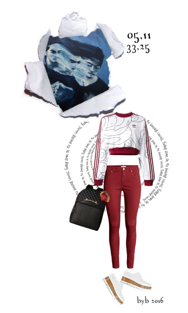 """""""05,11"""" by hannover ❤ liked on Polyvore featuring H&M, adidas Originals, Jil Sander and Betsey Johnson"""