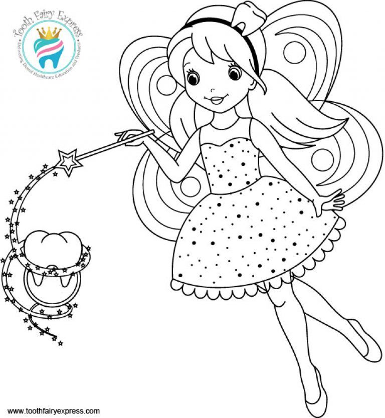 Tooth Fairy Coloring Page Fairy coloring pages, Fairy