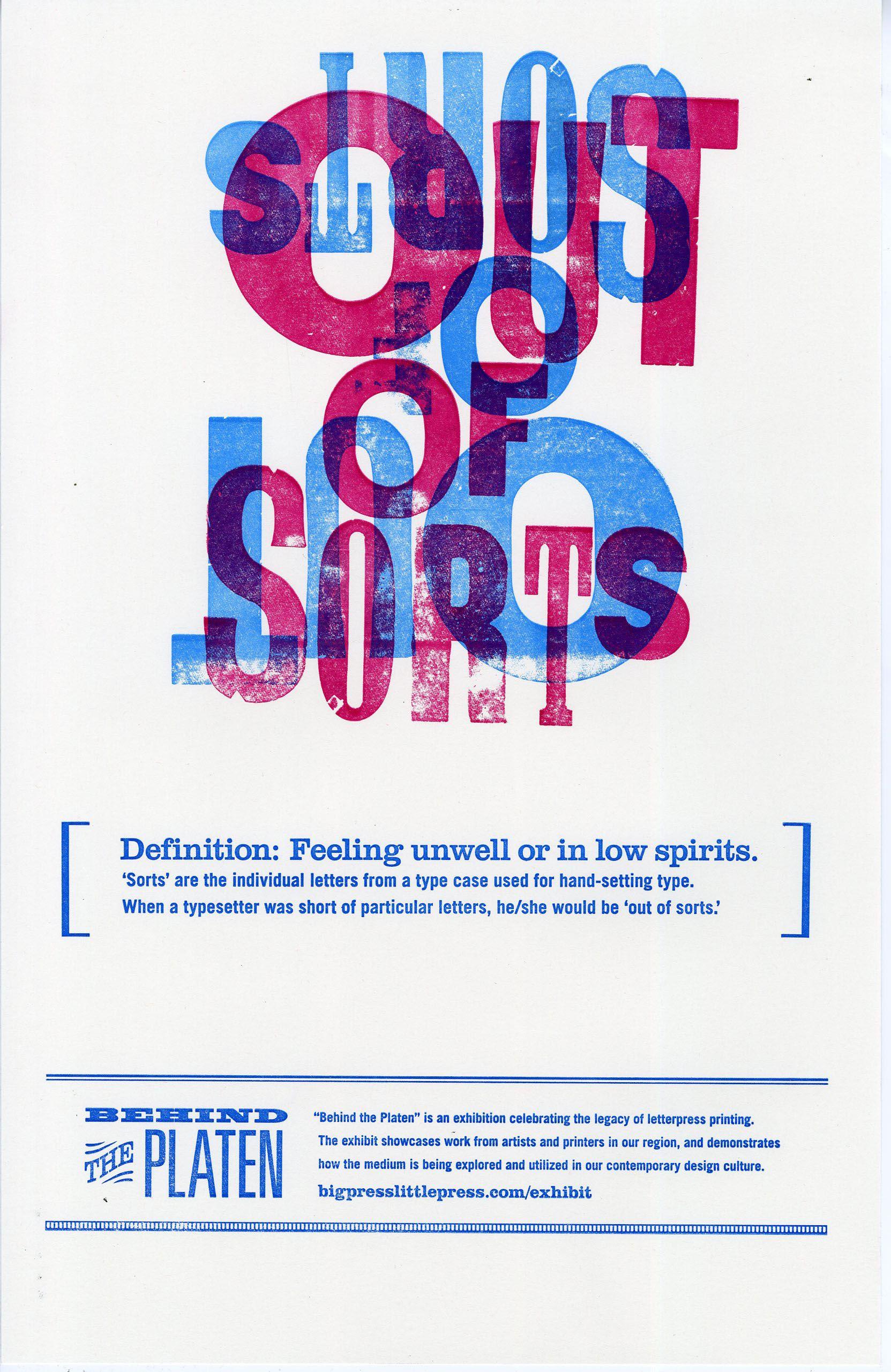 Promotional Poster Upper Case Lower Case