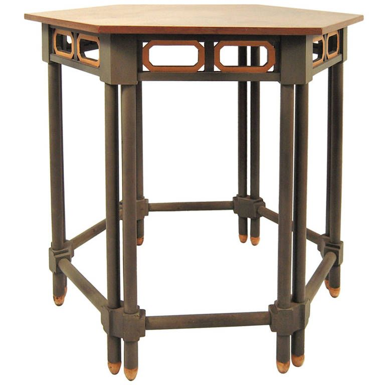 Stylish Grey Painted and Gilded Occasional Table. Baker Furniture1stdibs ... - Stylish Grey Painted And Gilded Occasional Table Baker Furniture
