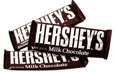 Barras de Hershey son deliciosas especialmente cuando estoy deseando el chocolate.