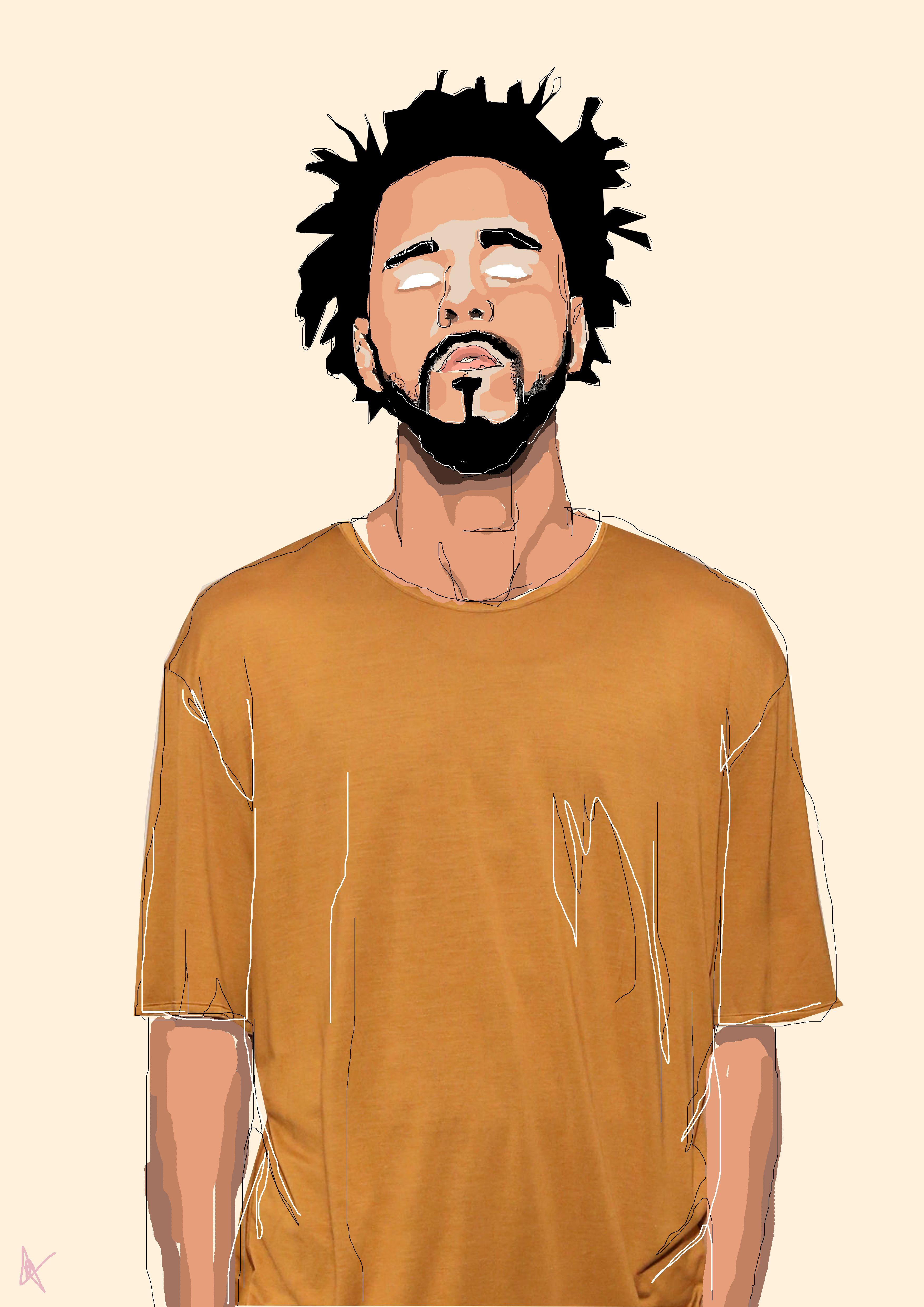 J Cole … J cole art, Rapper art, Hip hop art