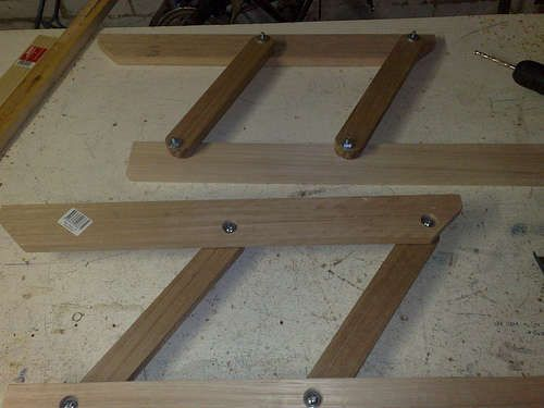 Diy Lift Top Table Hinge Made With Nyloc Nuts To Keep It From Uning