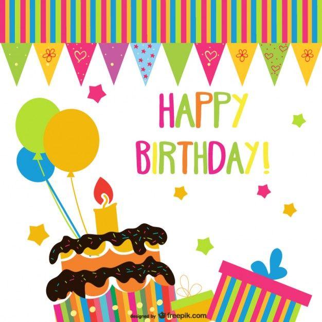 Piekne Recznie Malowane Urodziny Wektor Elementow Darmowych Wektorow Free Vector Fre Happy Birthday In German Birthday Wishes Greetings Happy Birthday Cards