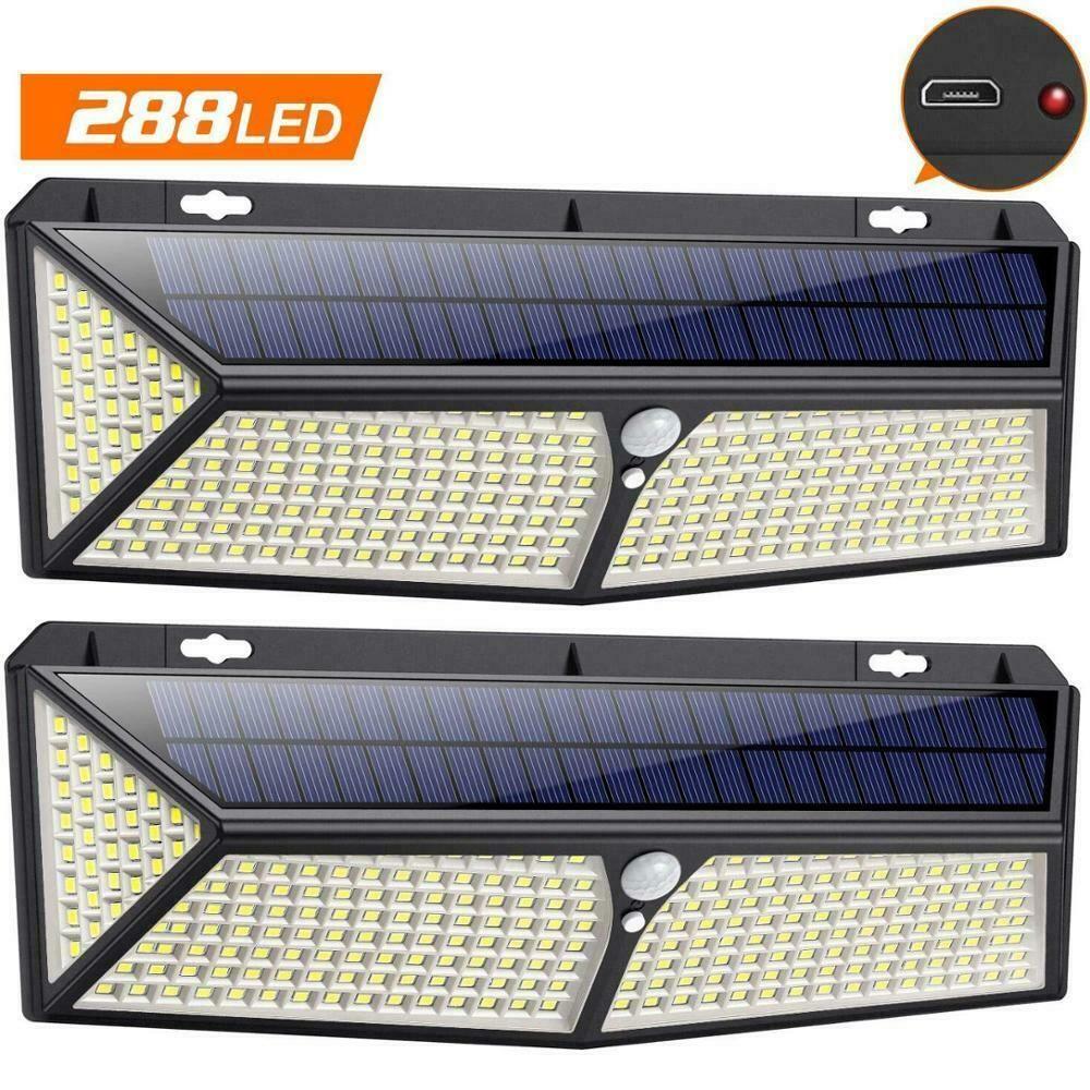 Solar Lights Led Lamp Outdoor Waterproof Motion Sensor Lights Pir 288 Zjlighting Walllight In 2020 Solar Lights Motion Sensor Lights Light Sensor