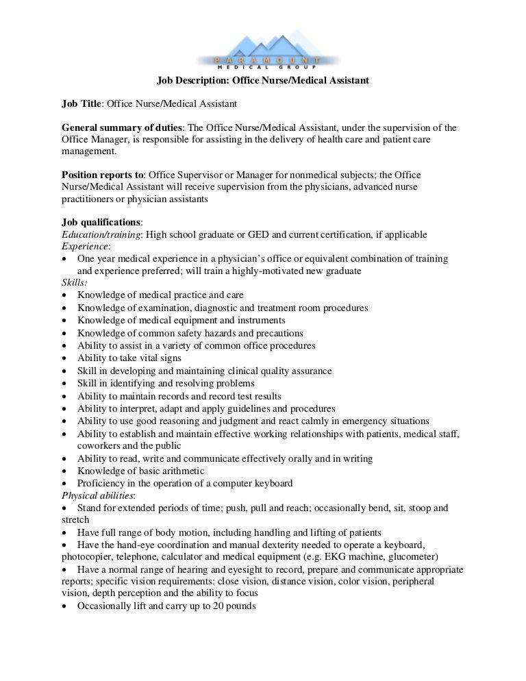 33 medical assistant job duties resume pictures in 2021