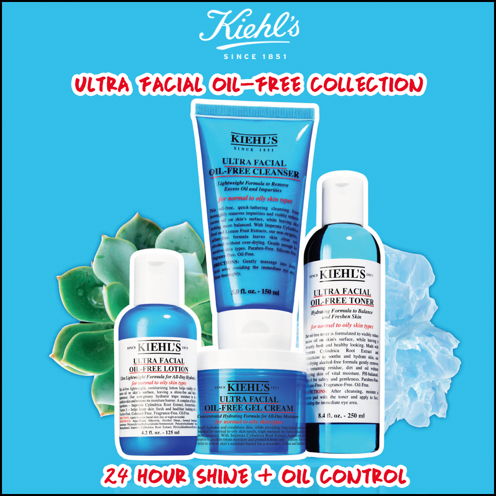 Say Hello To A Fresh Hydrated And Smoothened Skin With Kiehls Ultra Facial Oil Free Cleanser 150ml Collection