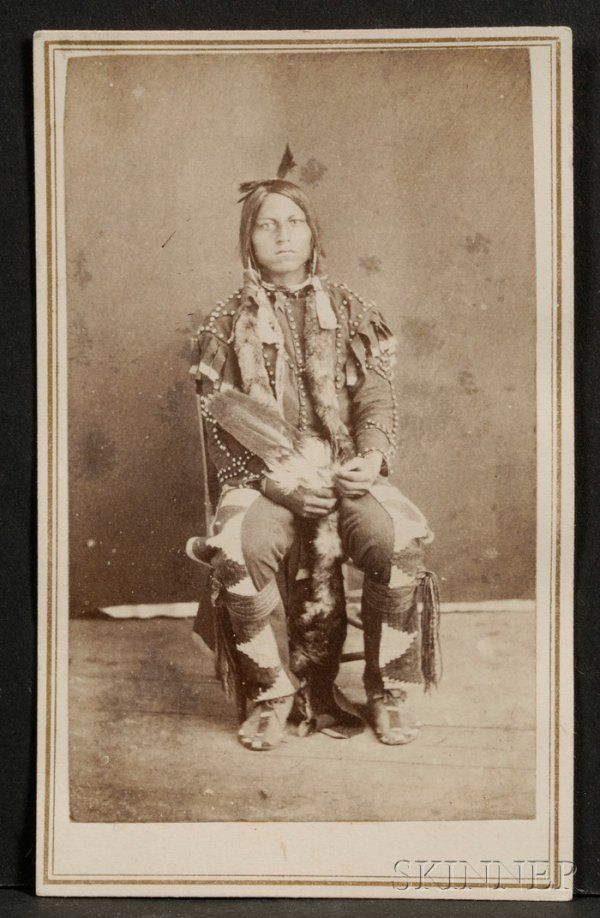 Carte De Visite Of A Sioux Brave C 1870