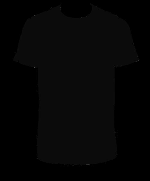 Vector Kaos Png : vector, Tshirt, Black, Clipart, Shirt, Tshirt,