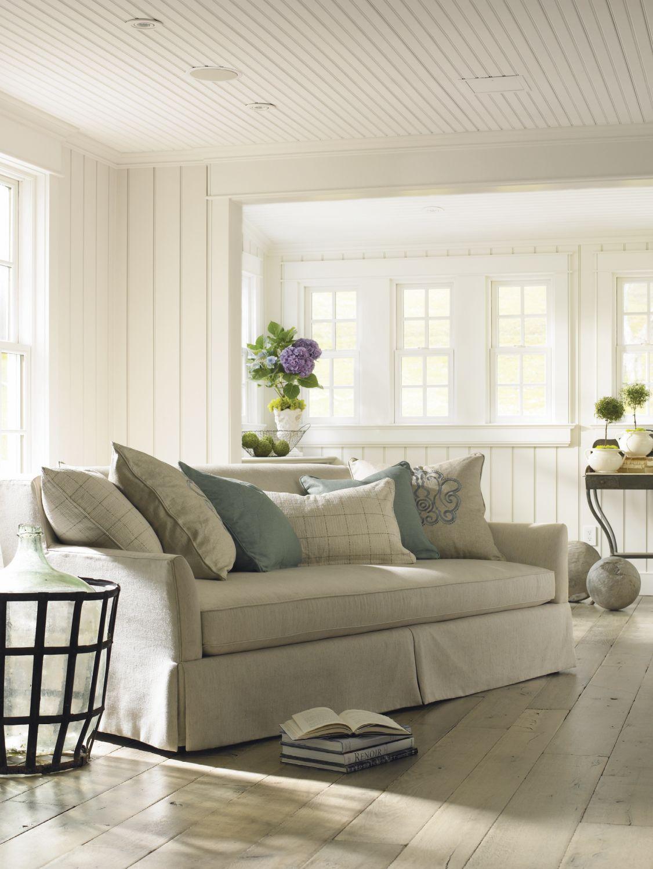 Schnadig Outside In Upholstered Sofa | Beach Cottage | Pinterest