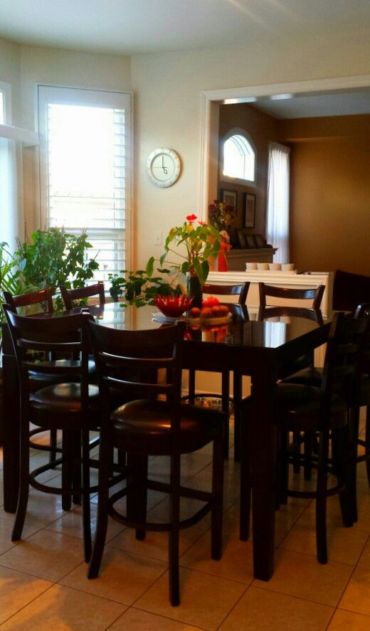 pub style table and chairs something i purchased on kijji awesome deal dinning table pub. Black Bedroom Furniture Sets. Home Design Ideas