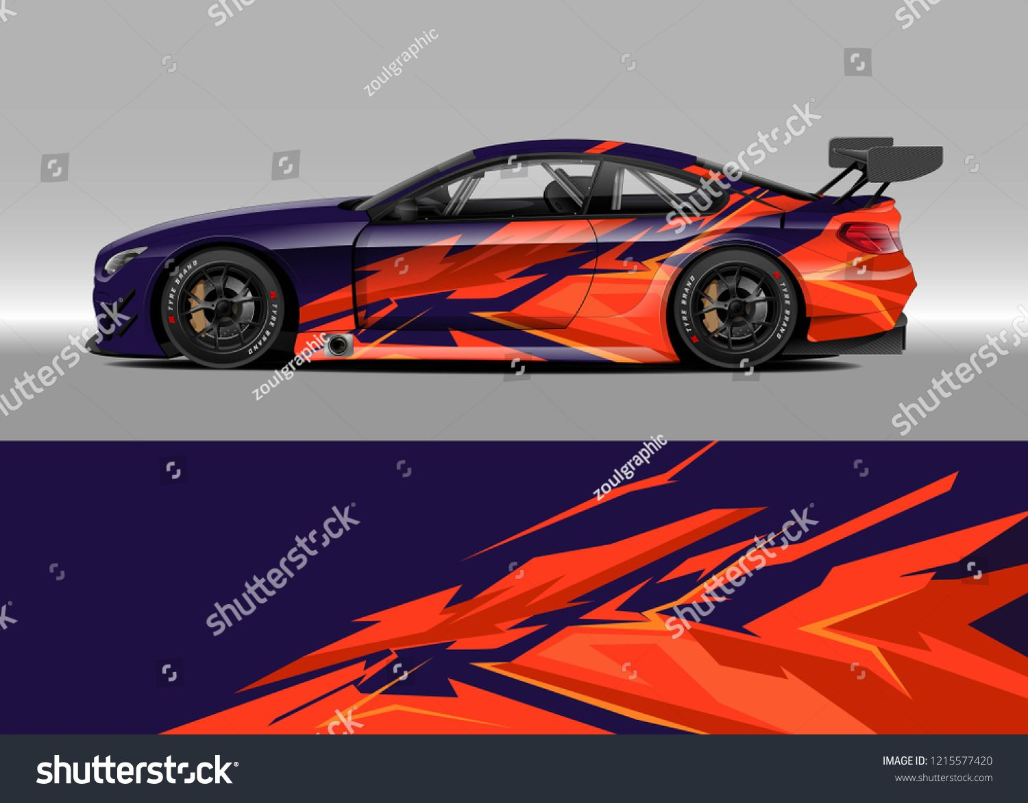 Car Decal Design Vector Graphic Abstract Stripe Racing Background Kit Designs For Wrap Vehicle Race Car Rally Adventure A Decal Design Race Cars Car Decals