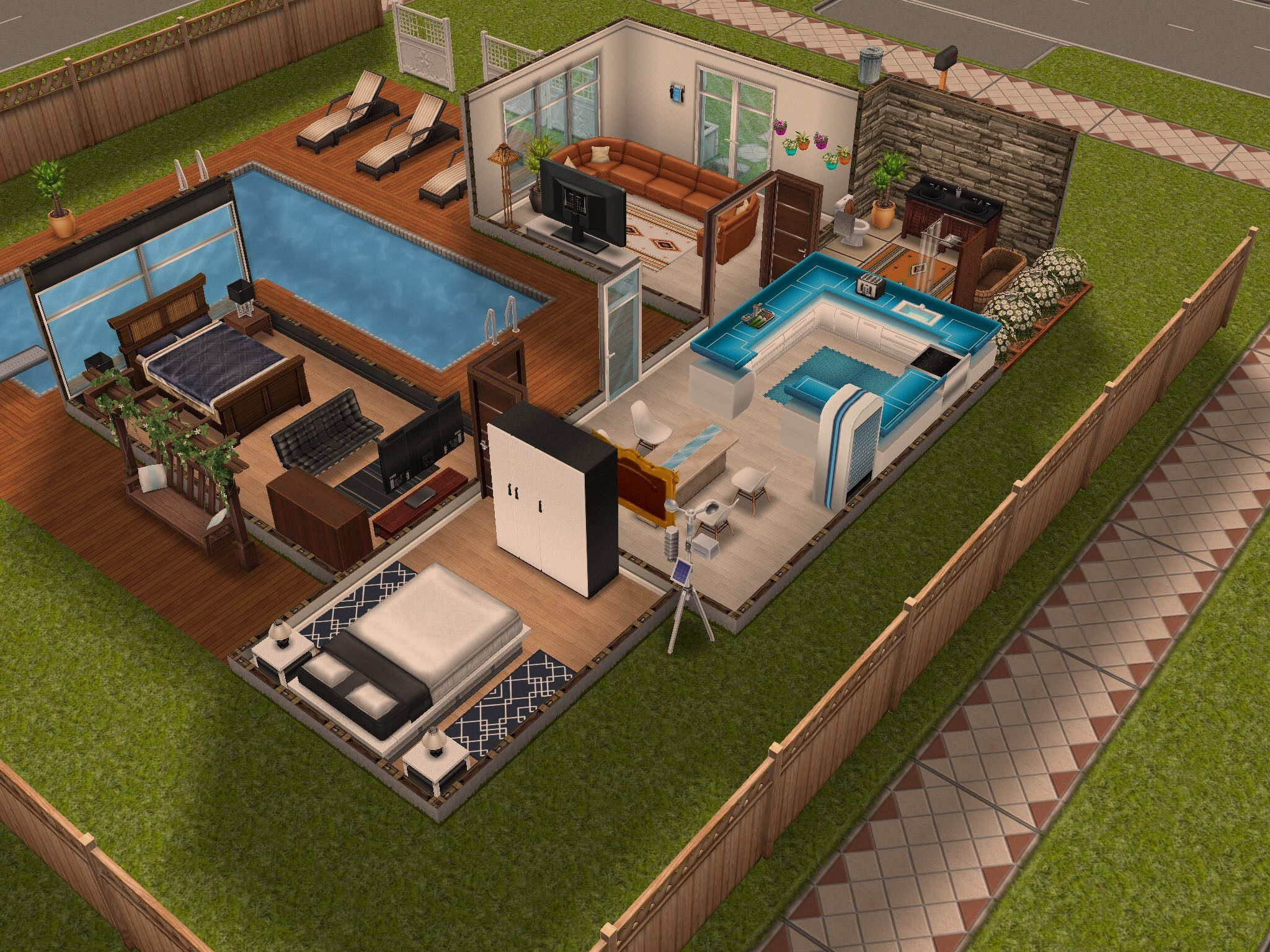 The Sims Free Play Modern House 1 Sims Thesims House Ideas Maison Sims Sims Maison
