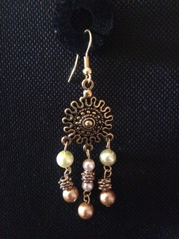 Glass pearl incorporated earings by SparklingSarahs on Etsy