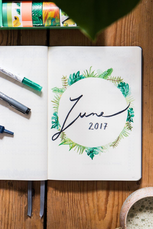 Bullet Journal Setup: June   Bullet Journal   Tagebuch ...