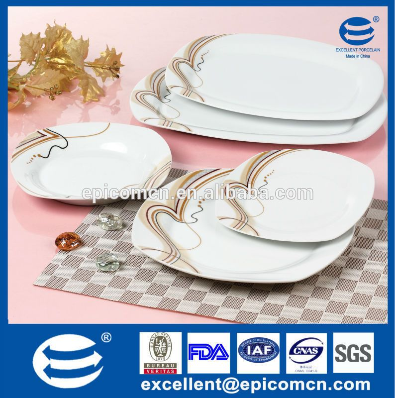 super white porcelain dinnerware wholesale modern square dinnerware ...