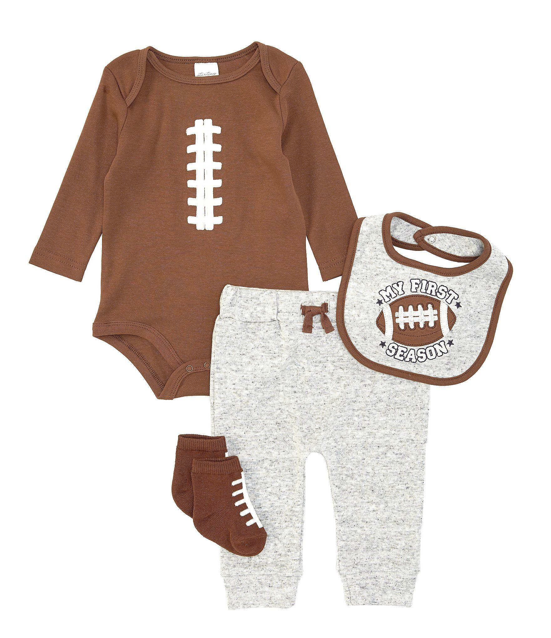 Photo of Starting Out Baby Boys Newborn-9 Months Football 4-Piece Layette Set | Dillard's