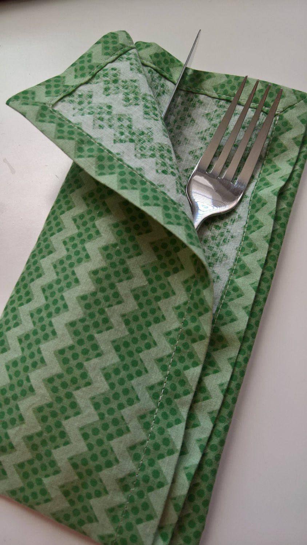 Green Cloth Napkins, Green Dinner Napkins, Green Everyday Napkins, Easter Cloth Napkins, Green Table Decor, St Patricks Day Cloth Napkins by 90West on Etsy