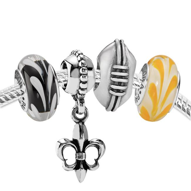 Pandora Set for New Orleans Saints | Pandora jewelry, Boys jewelry ...