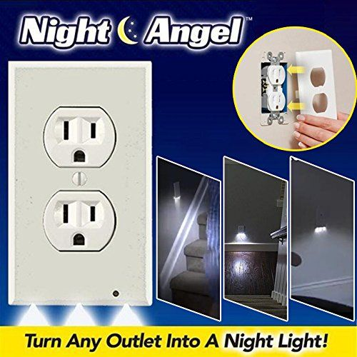 Bathroom Light Goes Off And On gladle plug cover outlet coverplate with led night lights hallway