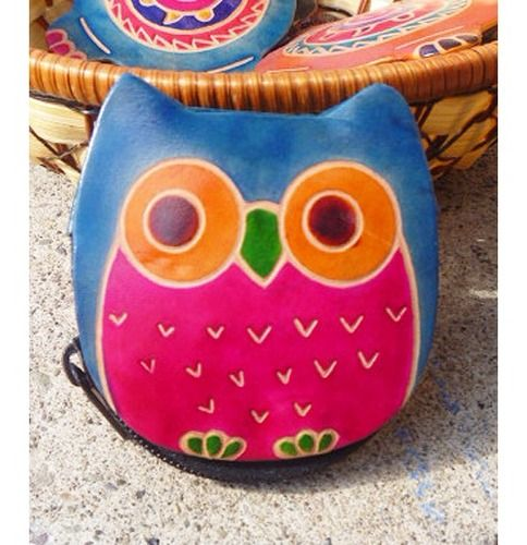 Day 11 - Bags & Wallets: Genuine Leather Colorful Owl Coin Purse, $8