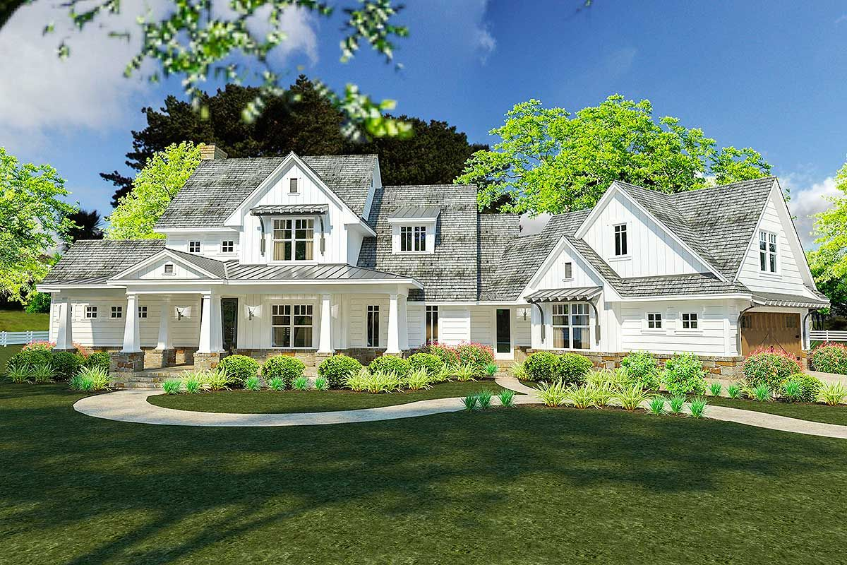 Plan 16898WG Flexible Farmhouse with Loads of Outdoor